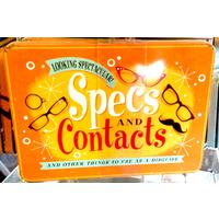 Specs and Contacts Vintage Tin- Large.