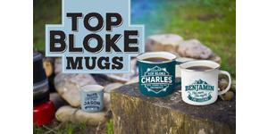 Top Bloke Personalised Enamel Mugs